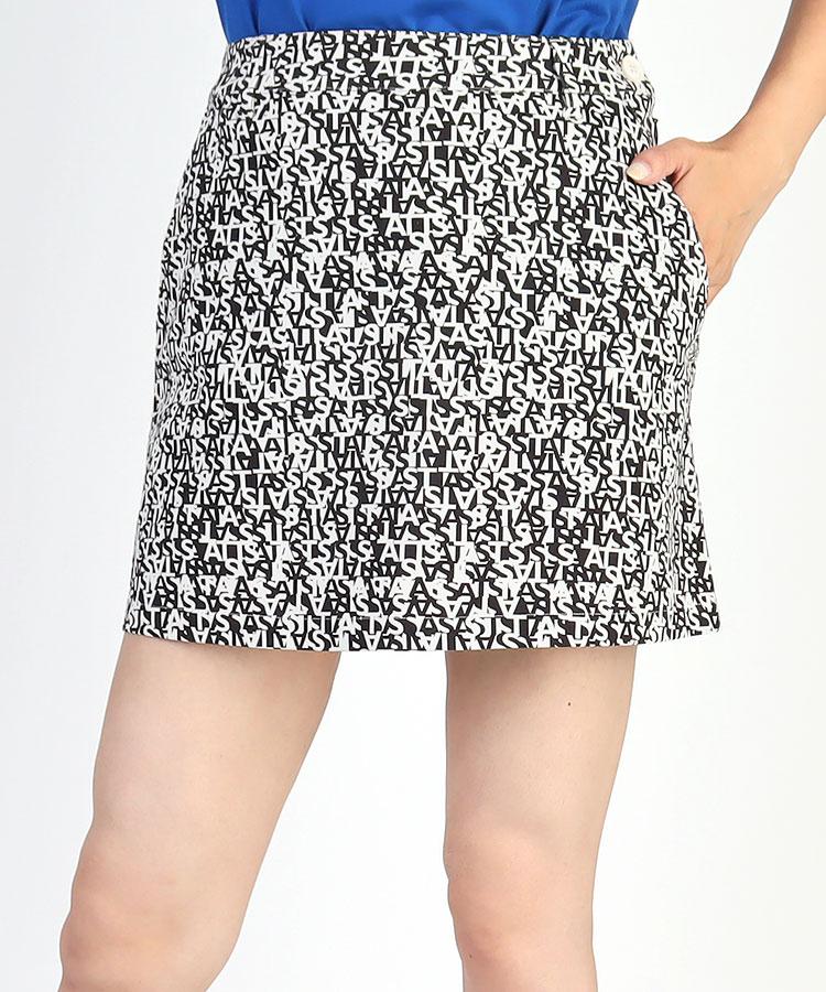 SA ツイルSTRETCH◆ロゴプリントスカート
