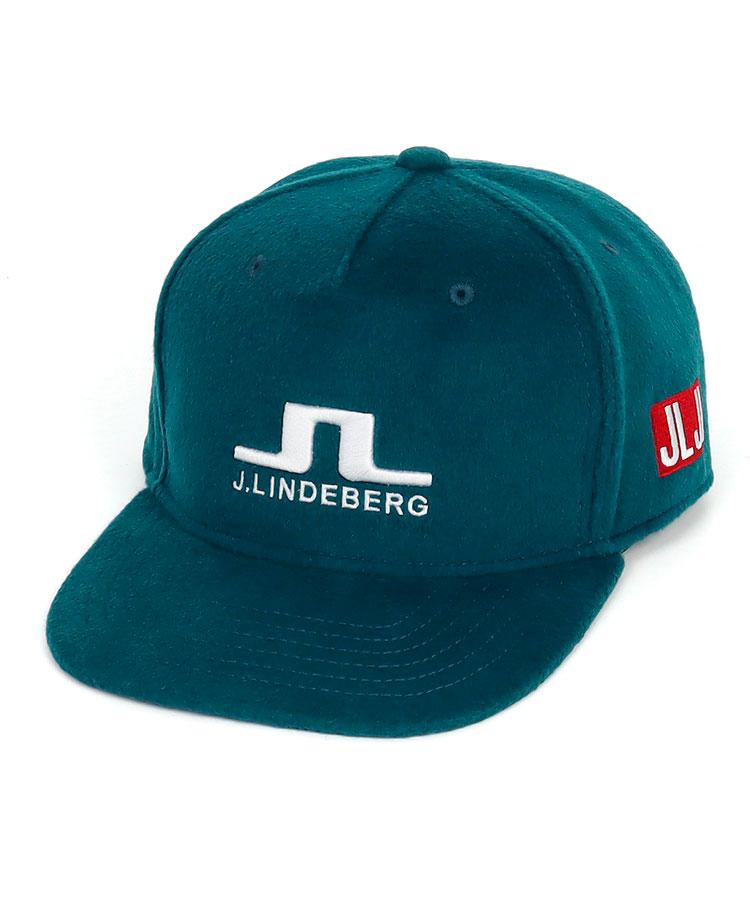 JL フェルト調★ロゴ刺昻フラットキャップ