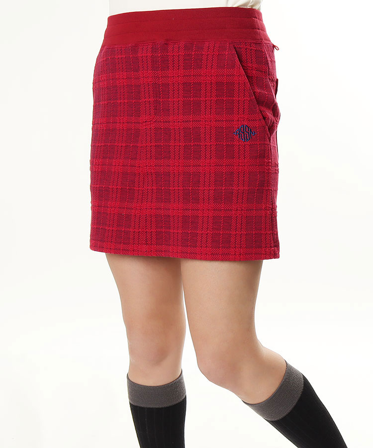 RO 立体チェック◆スウェットスカート