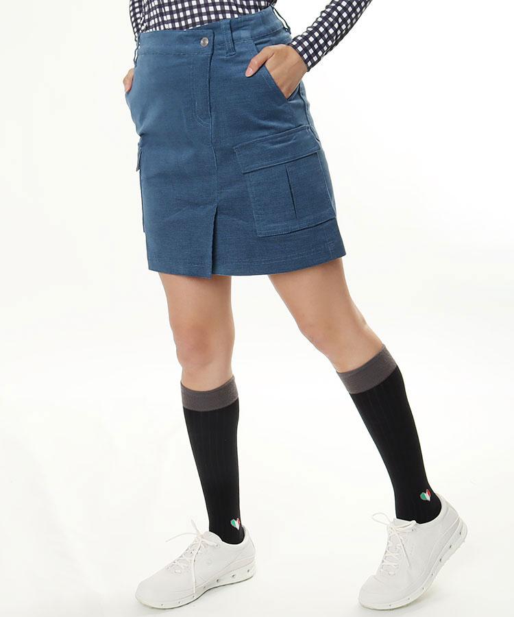 RO ストレッチ◆コーデュロイカーゴスカート