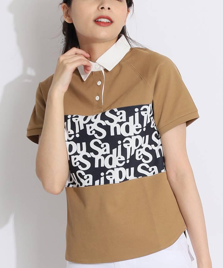 SD グラフィックロゴ★半袖ラガーシャツ