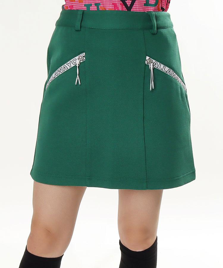 CA ロゴZIPファスナー◆ダンボールニットスカート