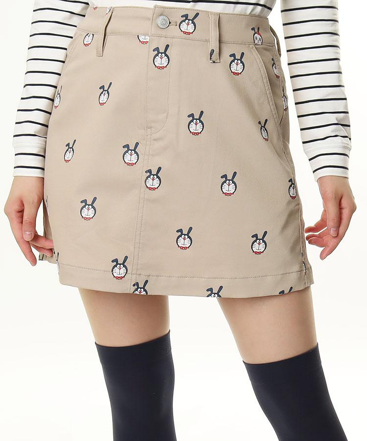 JB ドラbunny総柄プリント★BOXスカート