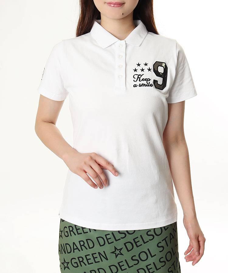 DL カモフラ9ロゴ★半袖ポロ