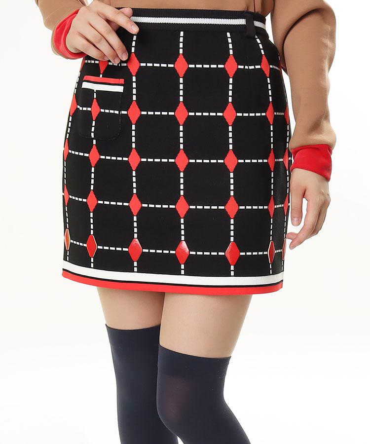 AR 格子柄◆ニットスカート