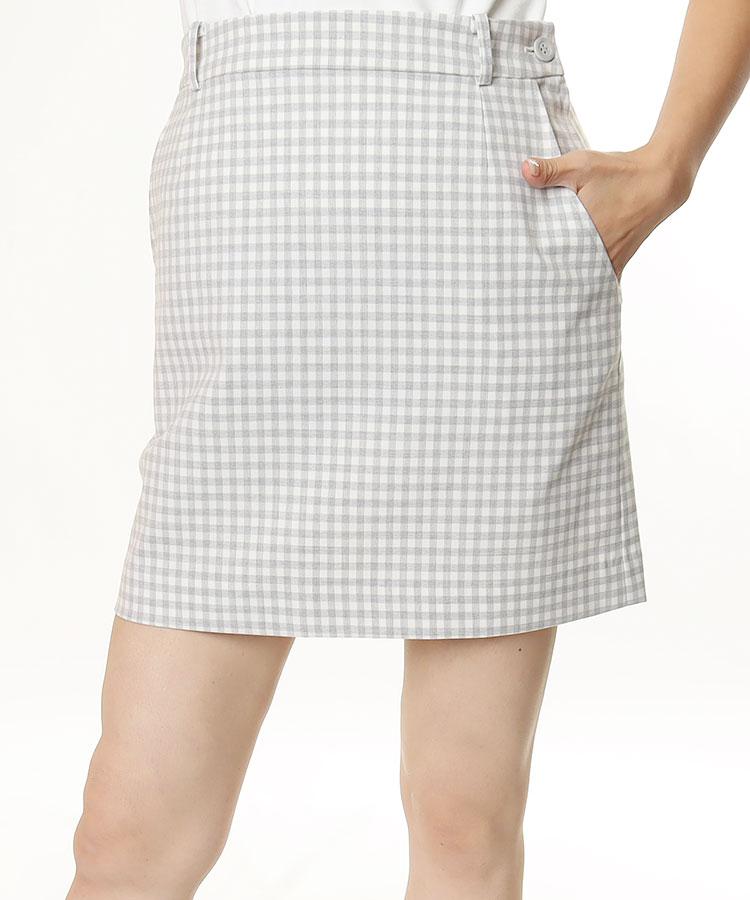 FB ギンガムチェック◆BOXスカート