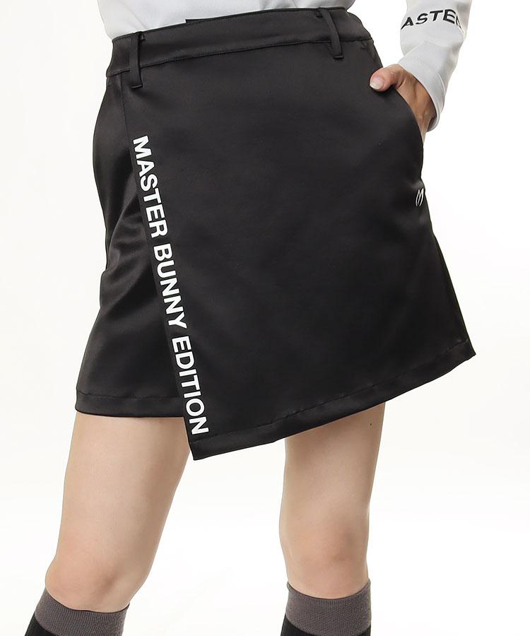 MB 巻きスカート風◆サテンストレッチスカート