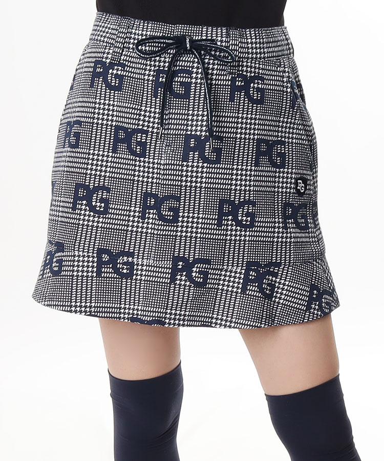 PG グレンチェック×PGロゴ◆スカート