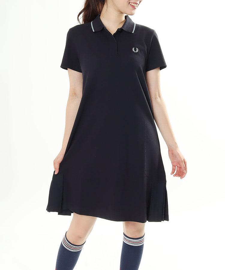 FP Back裾プリーツ★半袖カノコワンピ