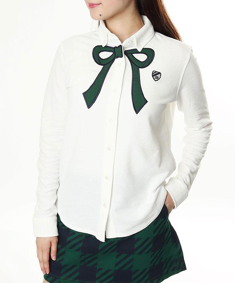 JB [CP対象]リボンタイ風◆カノコ長袖シャツ