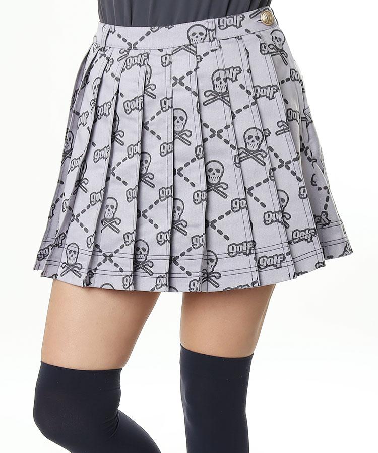 ML スカル×「golf」アーガイル◆プリーツスカート