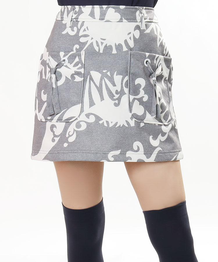 CA トライバル柄◆ボンディングスカート