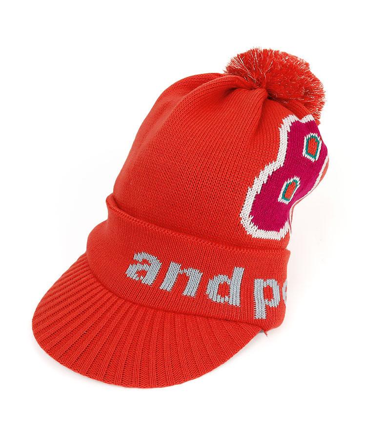 AP 「&」ロゴ★ポンポン付きニットキャップ