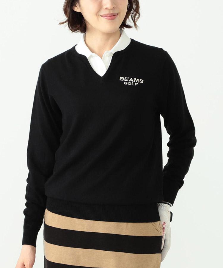 BE Vカットネックセーター