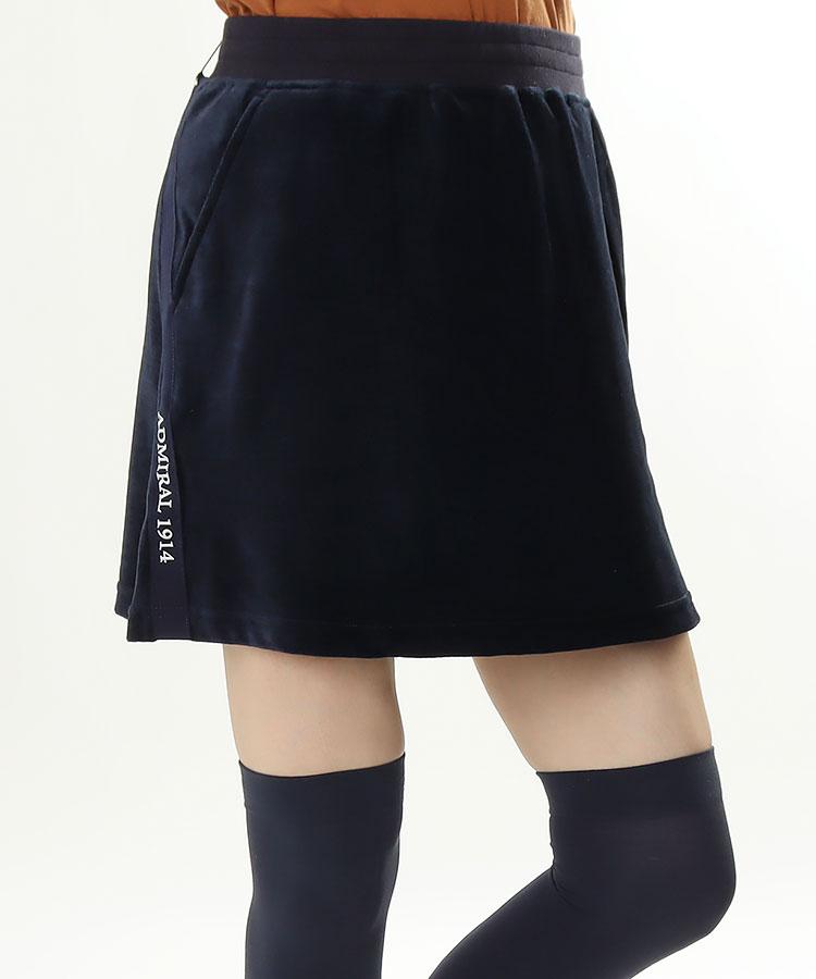 AM SIDEラインテープ◆ベロアスカート