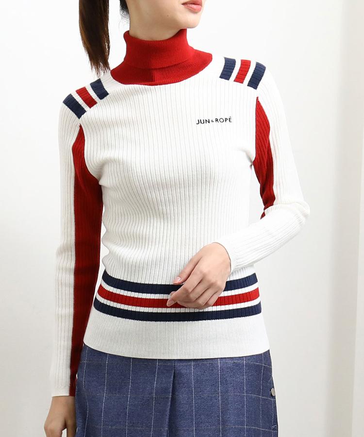JR レトロカラー配色長袖プルオーバー