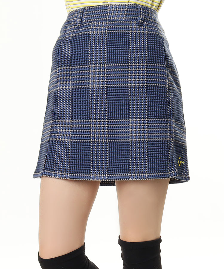 VH 千鳥チェック★Frontスリットスカート