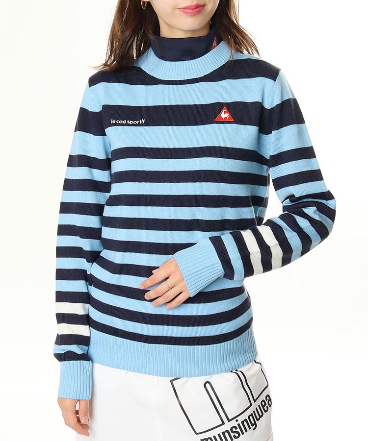 LQ バックロゴ刺繍◆ボーダーセーター