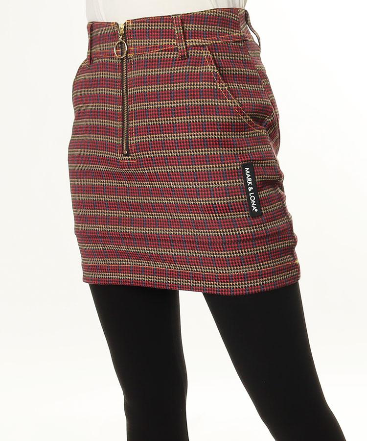 ML 千鳥格子◆チェック切替スカート