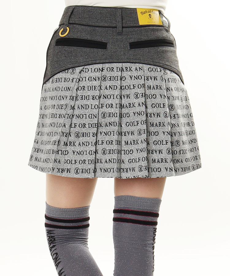 ML backプリーツ★ロゴデザインスカート