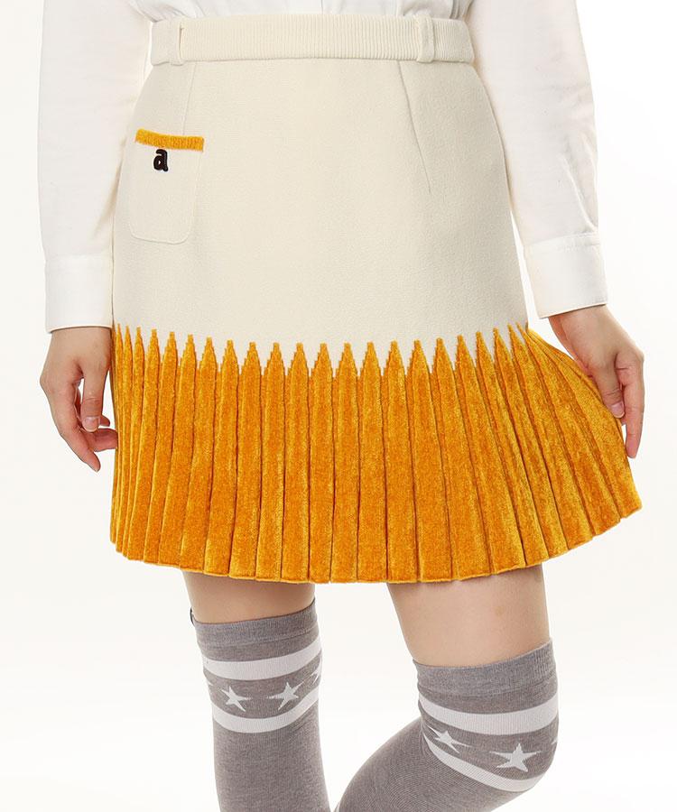 AR バイカラー★ニットスカート