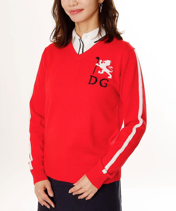 DL 袖ライン◆Vネックセーター