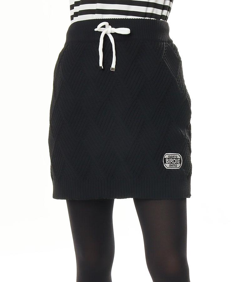 CU アーガイル編み◆ニットスカート