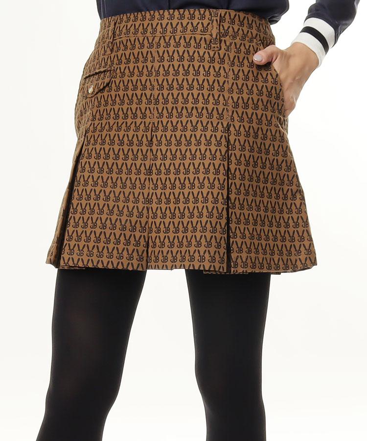 JB [CP対象]モノグラム柄★プリーツスカート