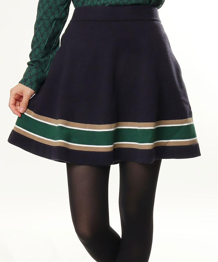 JB 裾ライン◆ニットスカート