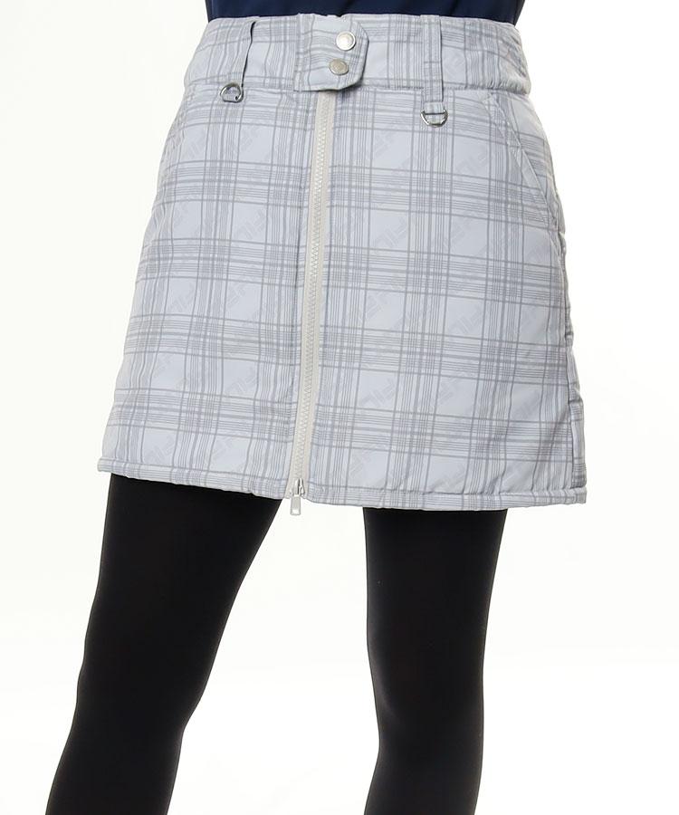 FG ポーチ付き♪チェック柄中綿スカート