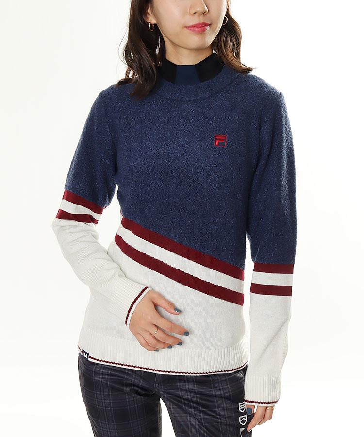 FG 斜めLINE切替★セーター