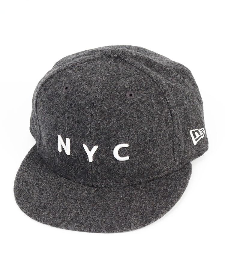 NE ウール混★「NYC」フラットキャップ