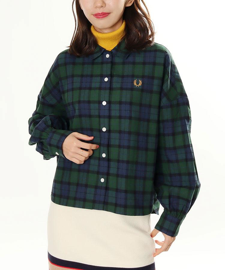 FP ブラックウォッチ柄◆長袖シャツ