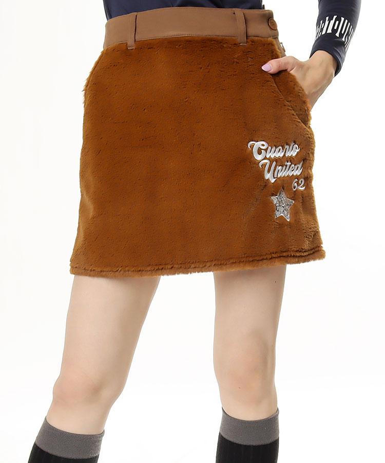 CU 異素材MIX♪スパンコール刺繍スカート
