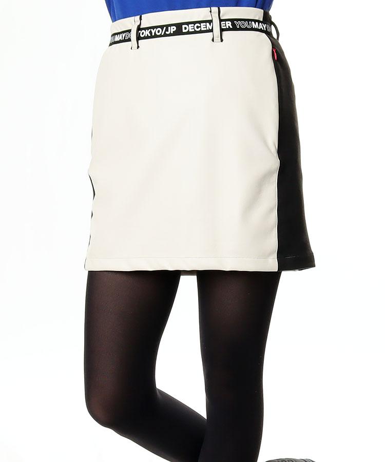 DM 異素材MIX★サイドLINEスカート