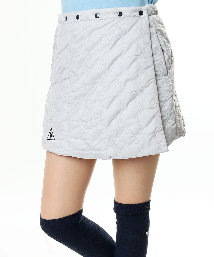 LQ 中綿キルト◆オーバー巻きスカート