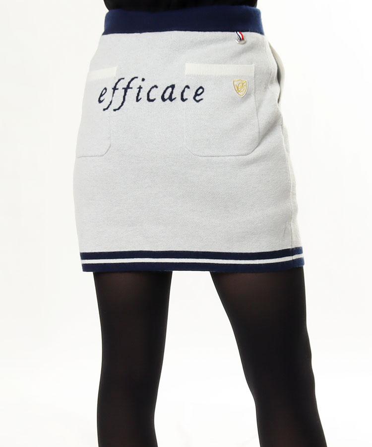 EF バックロゴ◆ニットスカート