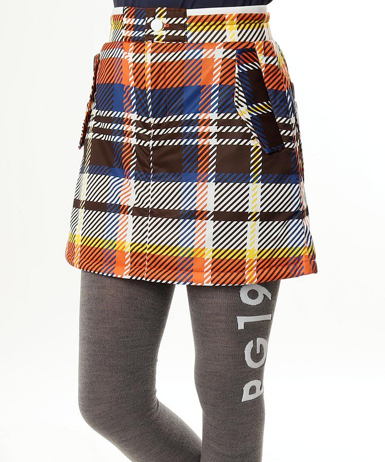 JB チェックPrint★一体ぺチ付きスカート