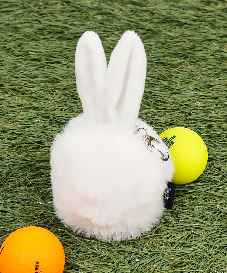 JB フェイクファー◆うさぎ型ボールホルダー