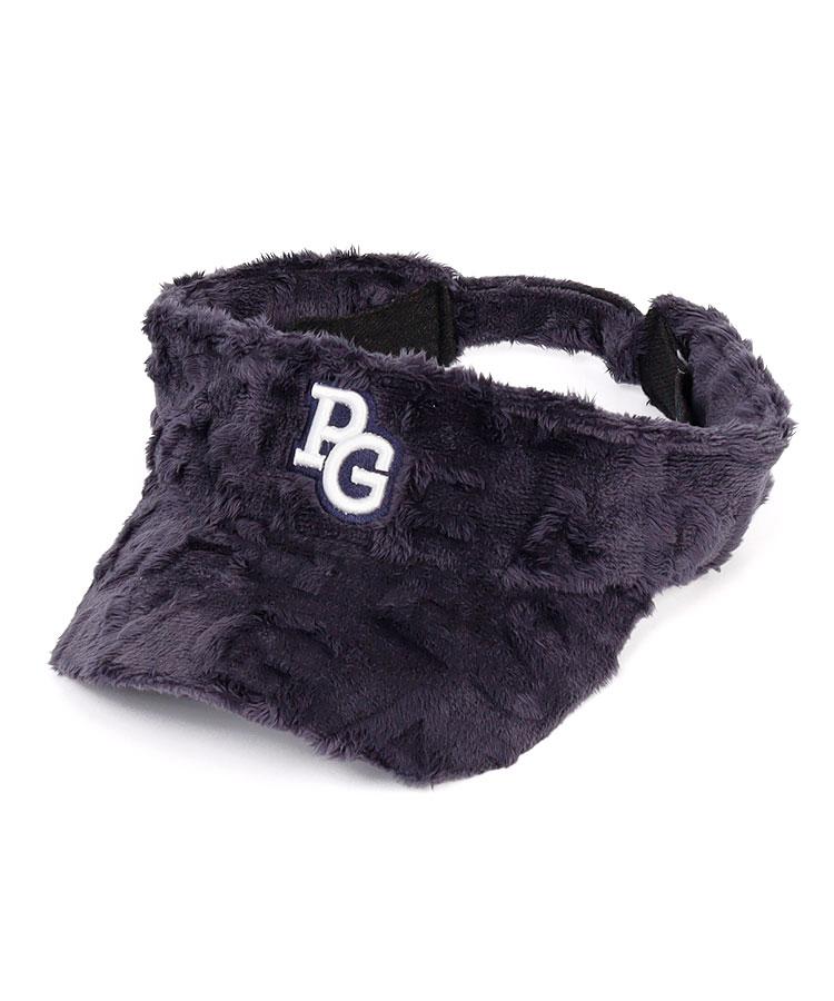PG ロゴ柄◆ボアフリースバイザー