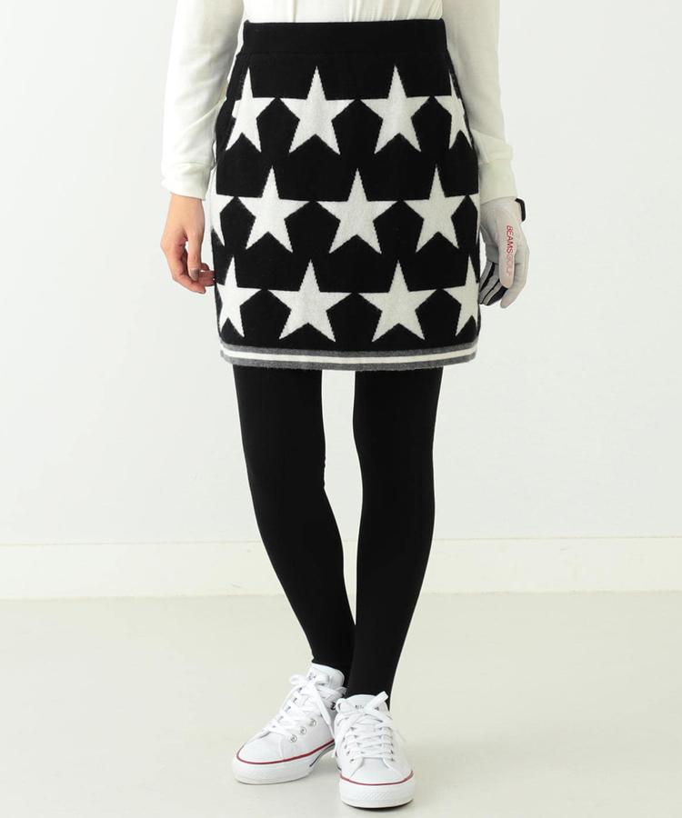BE 星柄ニットスカート