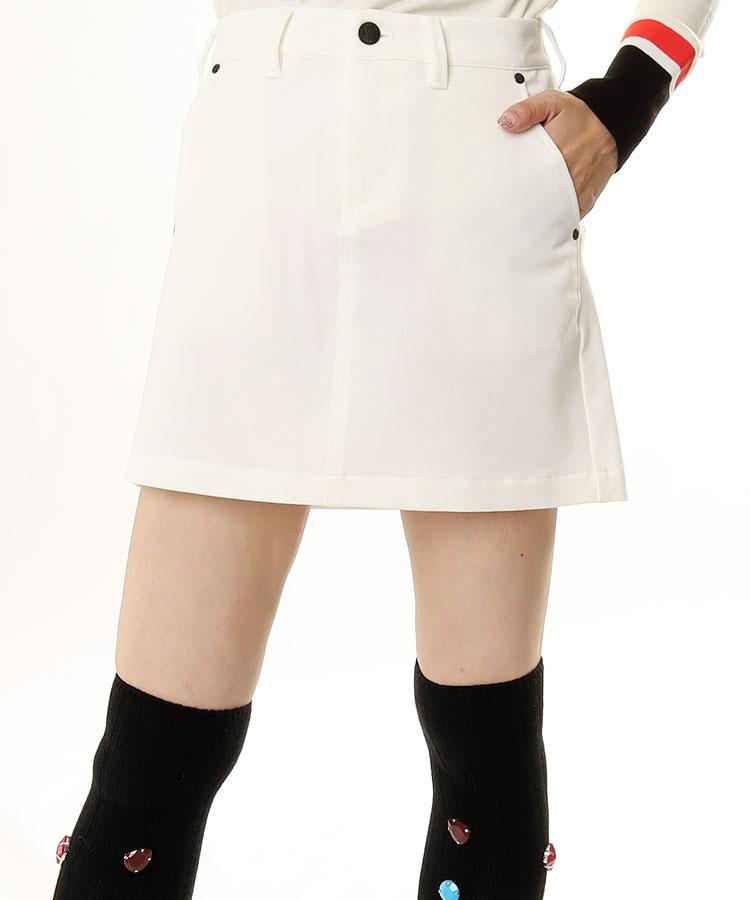 EG Simple♪台形スカート(ホワイト)