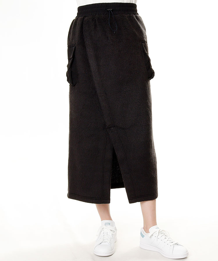 NG 異素材切替★シャギースカート