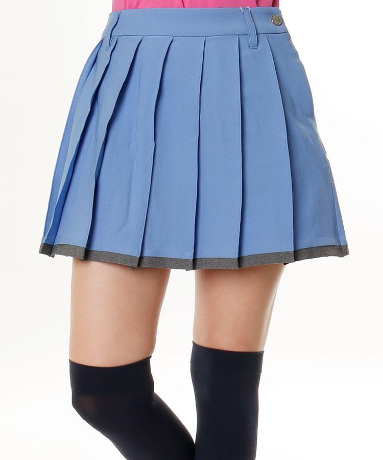 DE ECO◆配色プリーツスカート