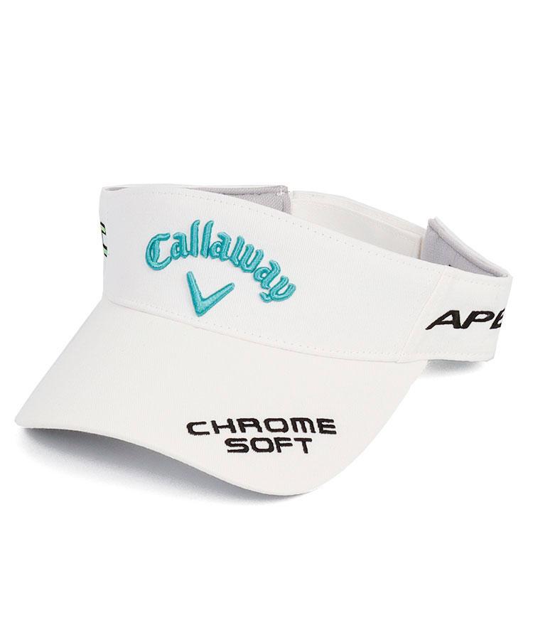 CA 選べるカラー◆たっぷりロゴ刺繍バイザー