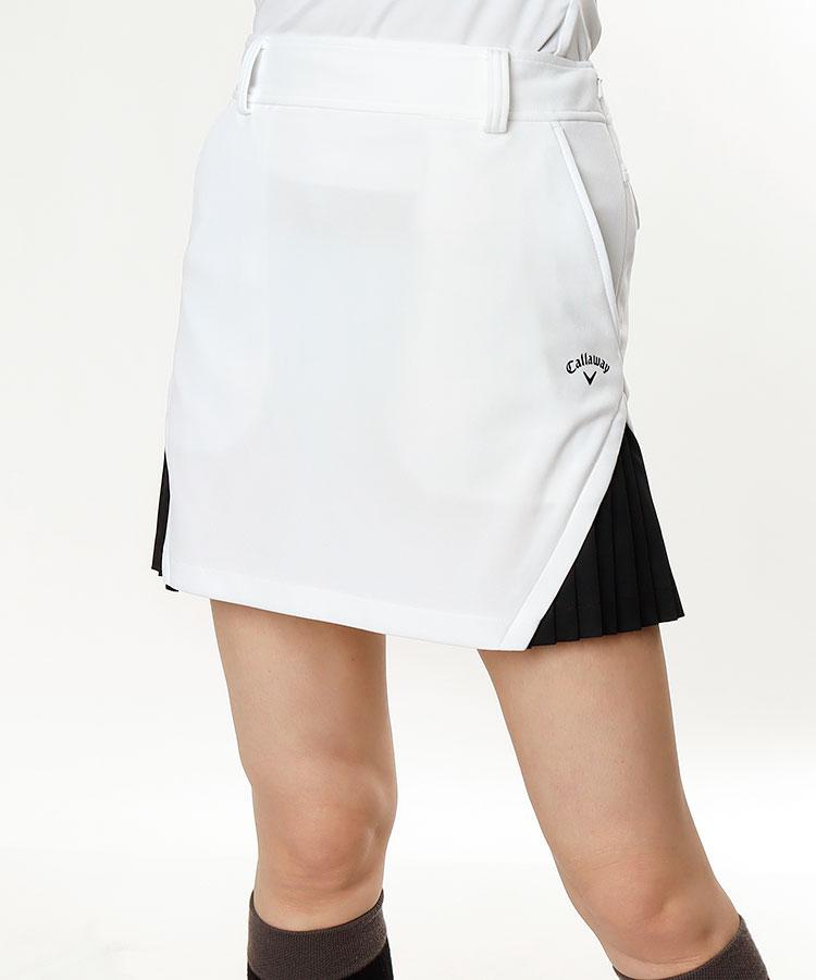 CA 裾サイド切替★プリーツスカート