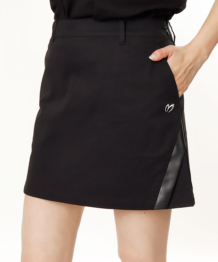 MB 裾スリット★STRETCHサテンスカート