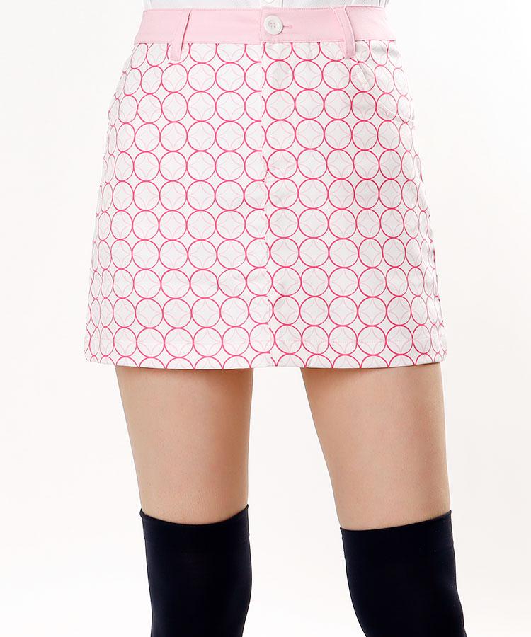 EF リングジオメトリックPrintスカート