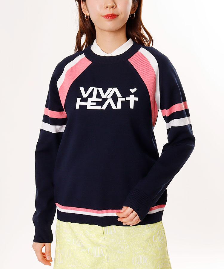 VH Frontロゴ♪クルーネックニット