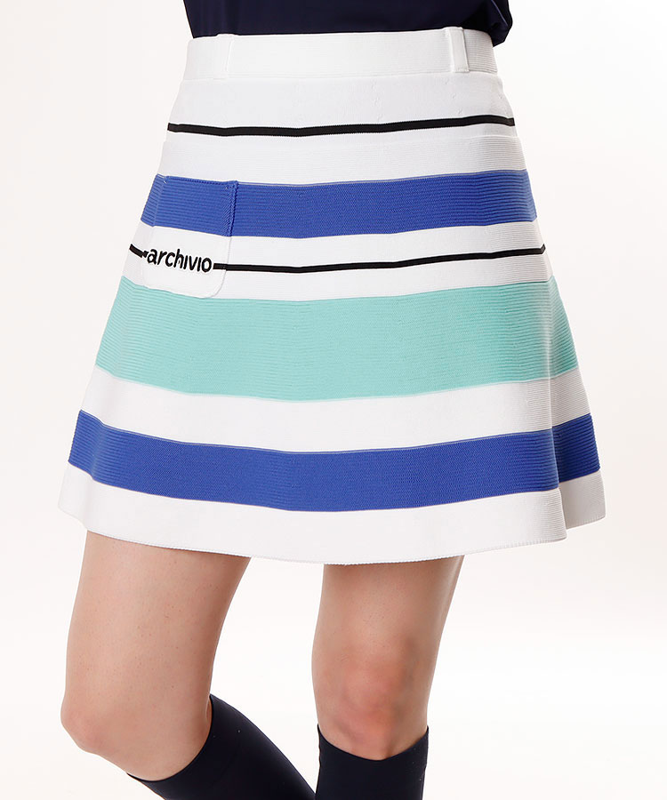 AR マルチBorder♪フレアニットスカート